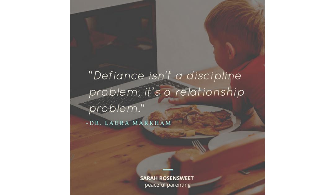 Defiance isn't a Discipline Problem