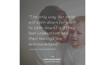 The Only Way Our Child Will Calm Down