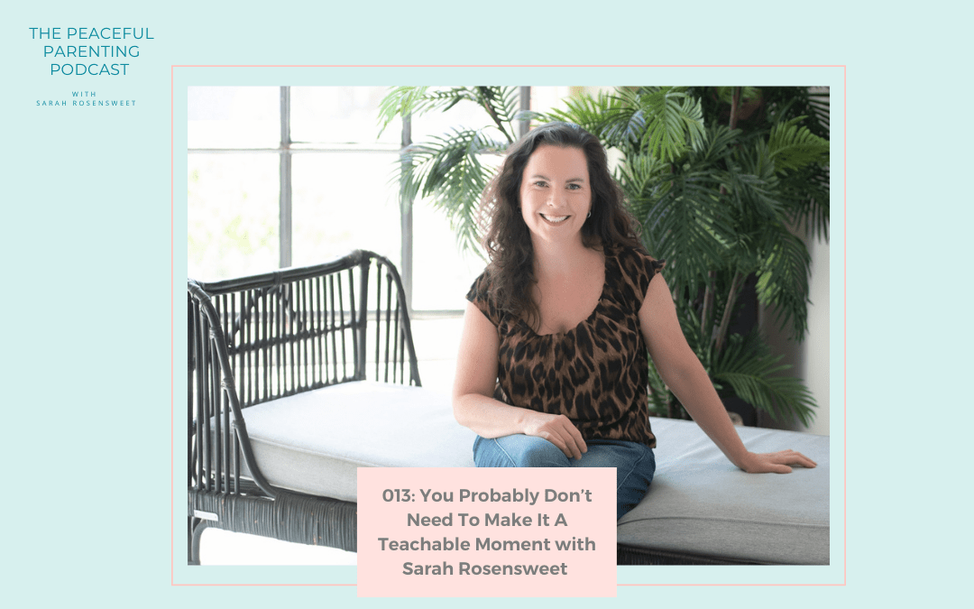 Episode 13: You Probably Don't Need To Make It A Teachable Moment with Sarah Rosensweet